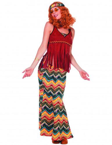 Jaren 70 hippiekostuum voor vrouwen
