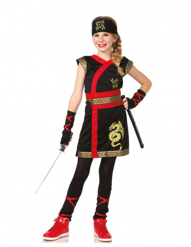 Gouden draak ninjakostuum voor meisjes