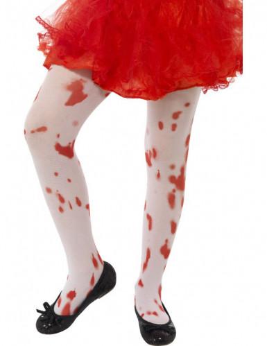 Bebloede panty's voor kinderen Halloween
