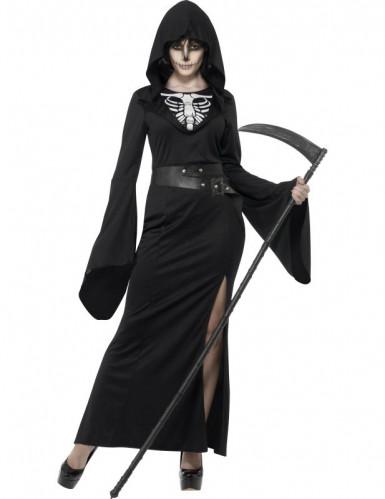 Zwart reaperkostuum voor vrouwen