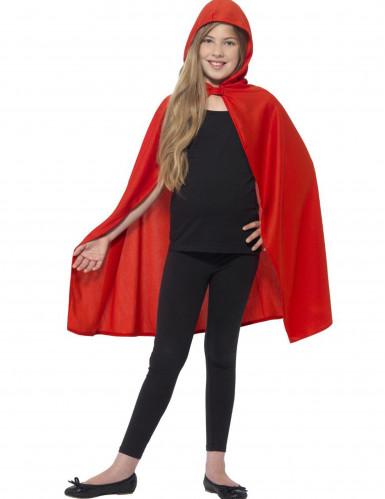 Rode cape met capuchon voor kinderen