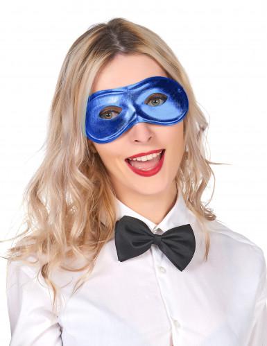 Blauw half masker voor volwassenen