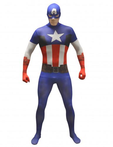 Morphsuits™ Captain America kostuum voor volwassenen