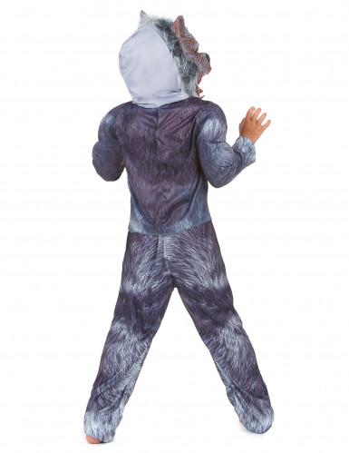 Eng grijs weerwolf kostuum met masker voor kinderen-2