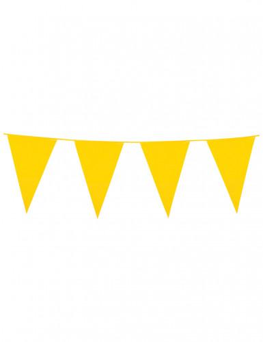 Gele vlaggenslinger