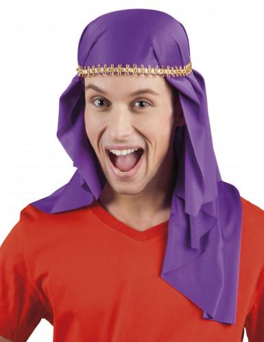 Paarse Arabische emir hoofddoek voor volwassenen