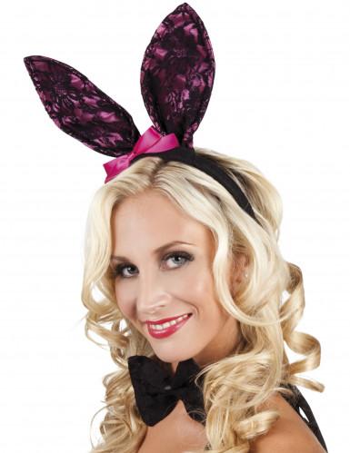Set Bunny kant (tiara en vlinderstrik)