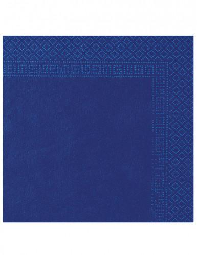 50 Marine blauwe servetten