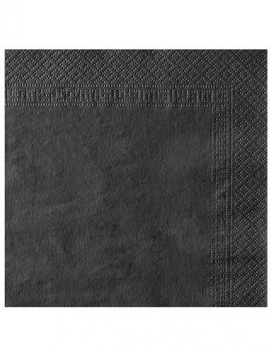 50 zwarte servetten