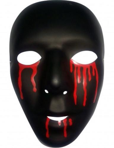 Zwart masker met bloederige tranen voor mannen