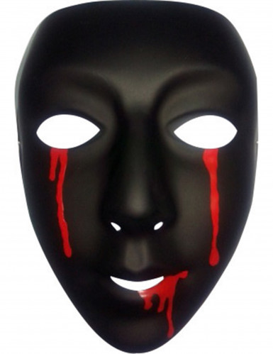 Zwart masker met bloedtranen voor vrouwen