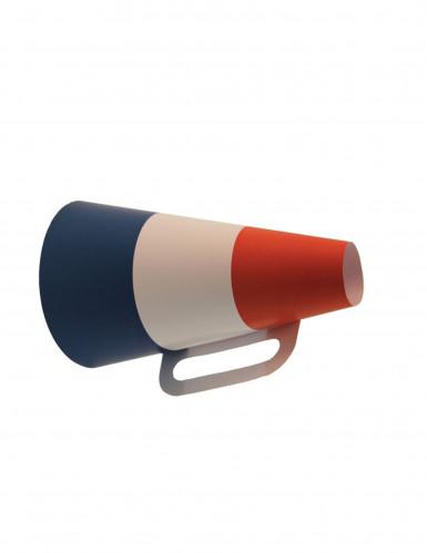 Blauw wit rode kartonnen megafoon