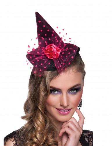 Roze mini heksenhoed voor vrouwen