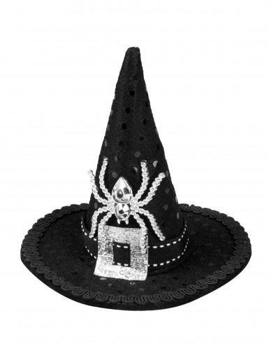 Mini heksenhoed met lovertjes voor vrouwen-1