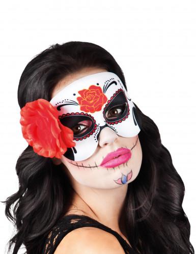 Masker met rode roos voor vrouwen