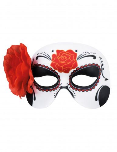 Masker met rode roos voor vrouwen-1