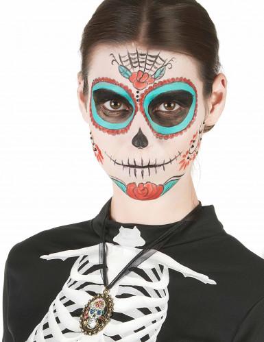 Día de los muertos skelet ketting voor vrouwen-1