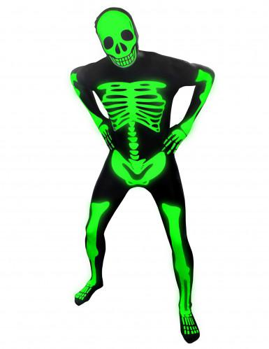 Fosforescerend skelet Morphsuits™ kostuum voor kinderen