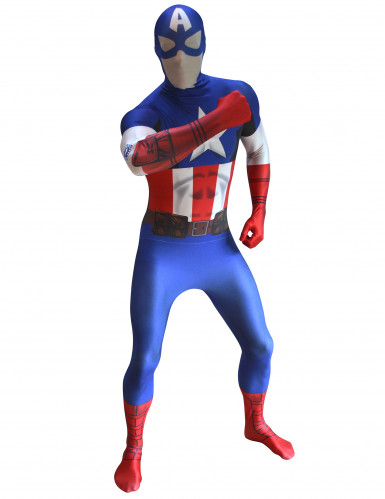 Captain America Morphsuits™ kostuum voor volwassenen