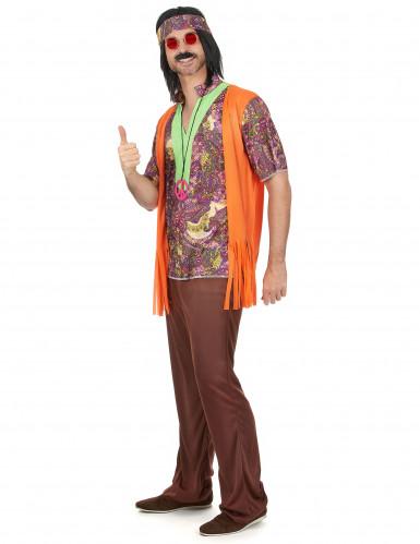Oranje hippie koppelkostuum-1