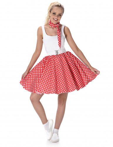 Rood 50's kostuum voor vrouwen