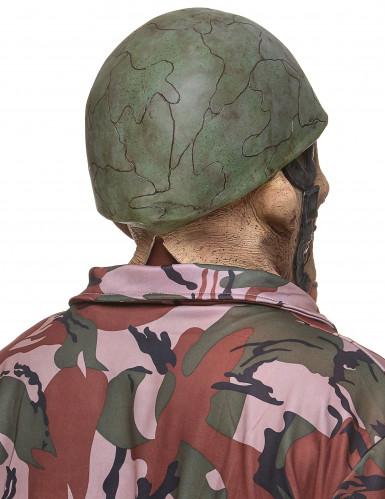Latex zombie soldaten masker voor volwassenen-1
