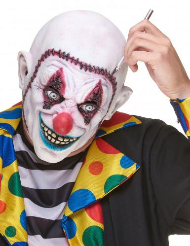 Gehechte schedel clownsmasker voor volwassenen