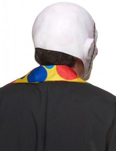 Gehechte schedel clownsmasker voor volwassenen-1