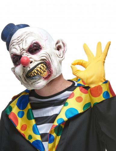 Afschuwelijke clown masker voor volwassenen