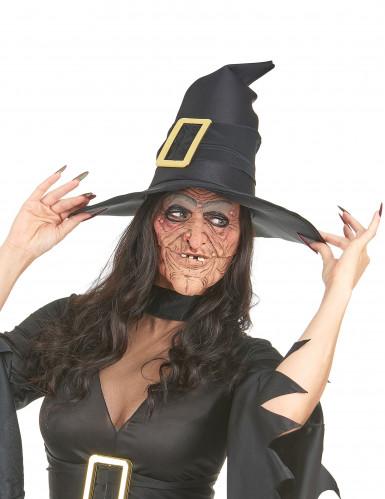 Latex heksen halfmaskers voor volwassenen