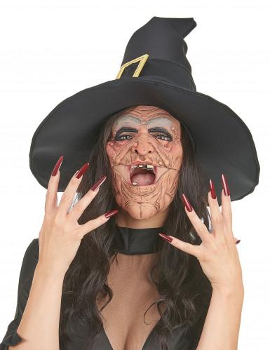 Latex heksen halfmaskers voor volwassenen-1