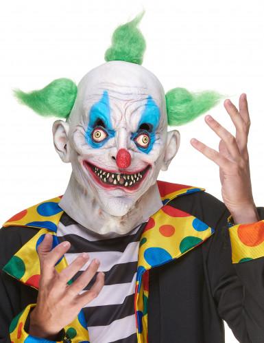 Latex gestoorde clown masker voor volwassenen