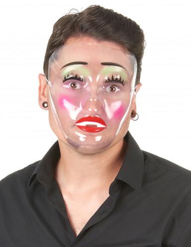 Opgemaakte vrouw masker voor volwassenen-1