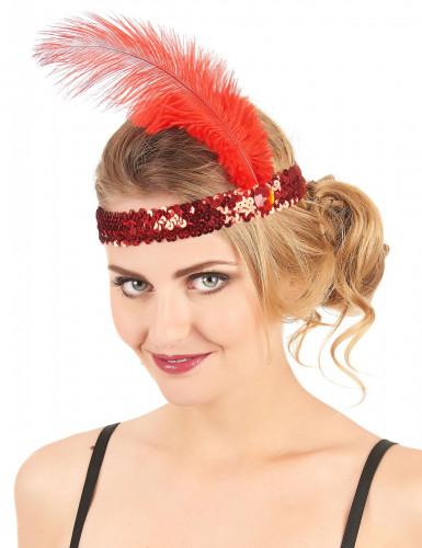 Rode charleston hoofdband voor vrouwen-1