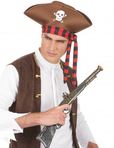 Bruine piratenhoed voor volwassenen-2