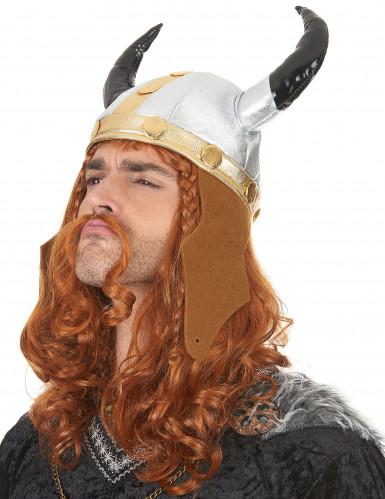 Metaalachtige viking helm voor volwassenen-1