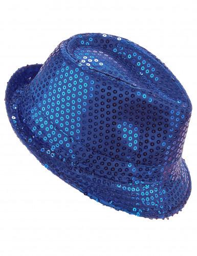 Donker blauwe borsalino hoed voor volwassenen