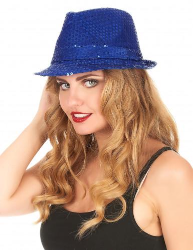 Donker blauwe borsalino hoed voor volwassenen -1
