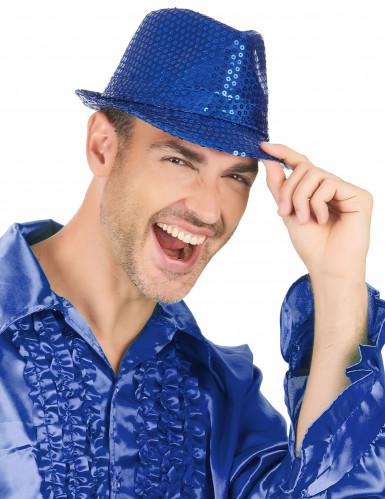 Donker blauwe borsalino hoed voor volwassenen -2