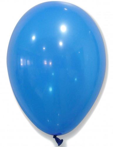 50 blauwe ballonnen