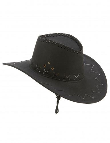 Zwarte cowboy hoed voor volwassenen