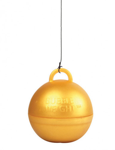 Goudkleurig heliumballon gewicht