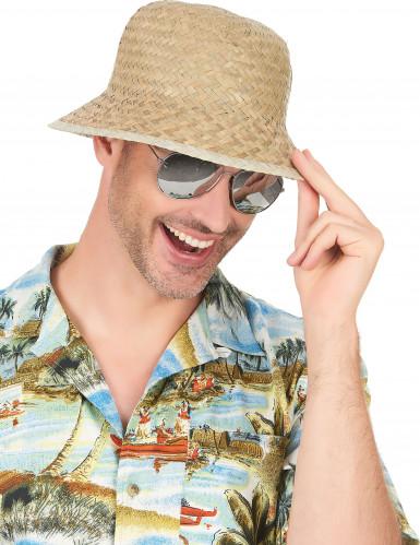 Beige avonturier hoed voor volwassenen-1