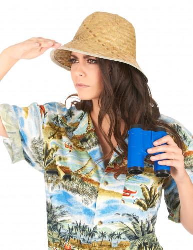 Beige avonturier hoed voor volwassenen-2