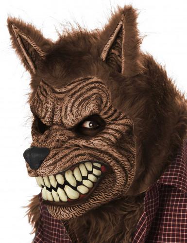 Geanimeerd weerwolf masker voor volwassenen