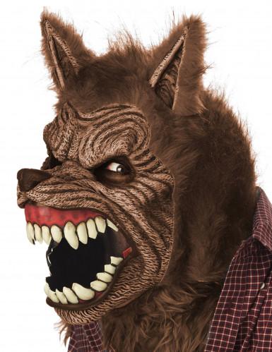 Geanimeerd weerwolf masker voor volwassenen-1
