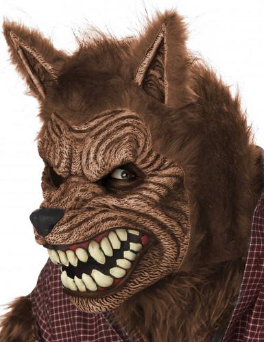 Geanimeerd weerwolf masker voor volwassenen-2