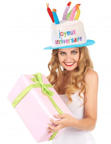 Verjaardagstaart hoed voor volwassenen