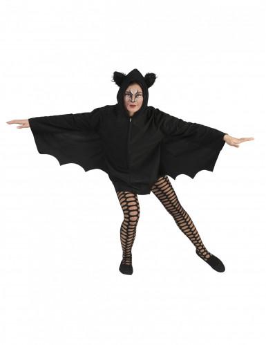Zwarte vleermuis cape voor vrouwen
