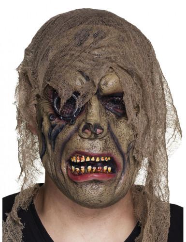 Latex zombie piraat masker voor volwassenen